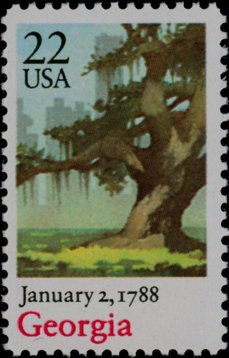 1988 22c Georgia Scott 2339 Mint F/VF NH