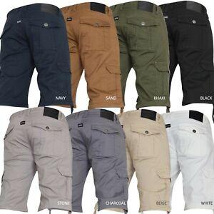 New-Mens-VON-DENIM-Cargo-Combat-Summer-Chino-Gym-Casual-Work-Knee-Length-Shorts