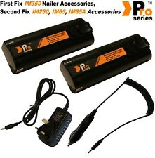 2 x Pro Series batteries 1.5ah for Paslode nailer + Wall Charger & Car Charger