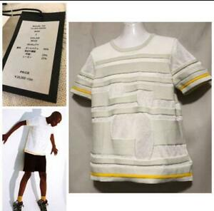 TAAKK-ISSEY-MIYAKE-Block-Border-Knit-Tee-Size-2-M-Unused-w-Tag-From-Japan