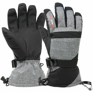 Alpine Swiss Mens Waterproof Gauntlet Ski Gloves Winter Sport Snow 3M Thinsulate