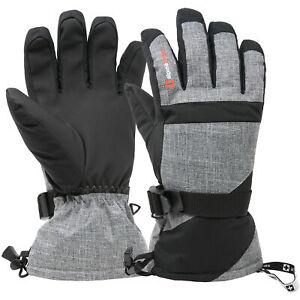 Alpine Swiss Mens Waterproof Gauntlet Ski Gloves Winter Sport Snow 3M Thinsulate