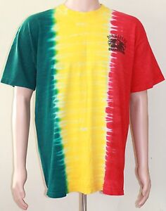 Rare-BOB-MARLEY-Universal-Studios-A-Tribute-To-Freedom-Tie-Dye-T-Shirt-Large