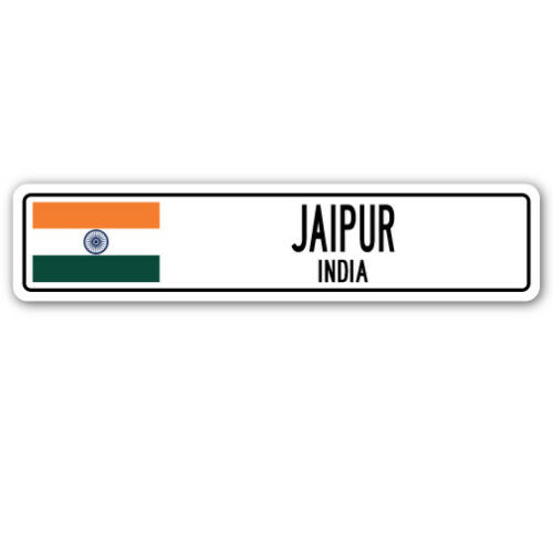 JAIPUR INDIA Street Sign Indian flag city country road wall gift