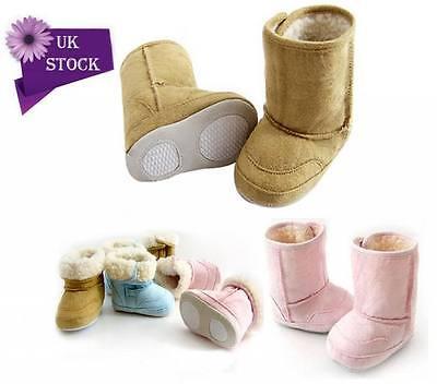 Bebé cálido invierno Botas Zapatos forro de piel Chicos Chicas NIEVE 6-24month Infantil Niño