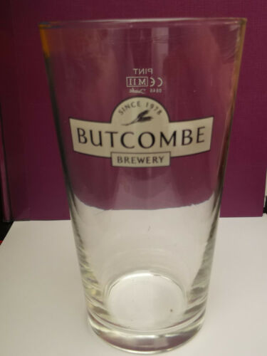 Butcombe Brewery conical pint glass  Bristol  USED