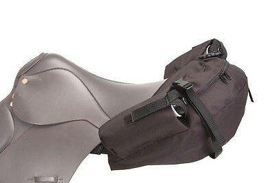 Tough 1 brown nylon English saddle bags horse tack equine