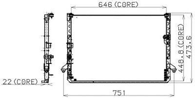A/C Condenser DENSO 477-0539 fits 94-97 Toyota Previa 2.4L-L4