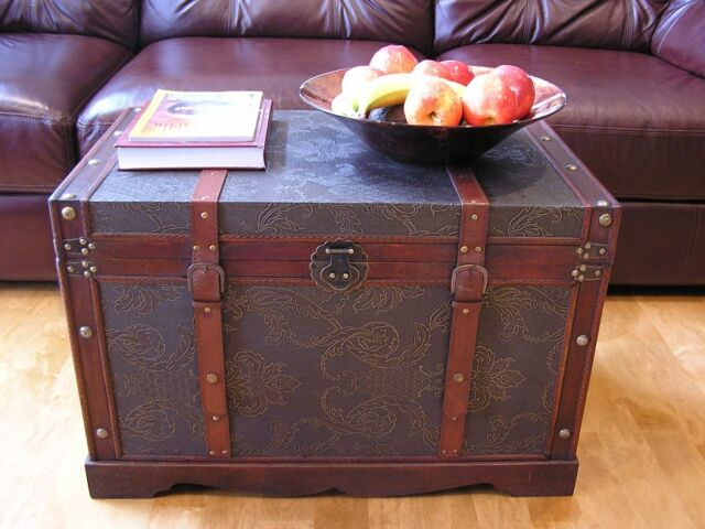 New Orleans Large Wood Storage Trunk Wooden Hope Chest For Sale Online