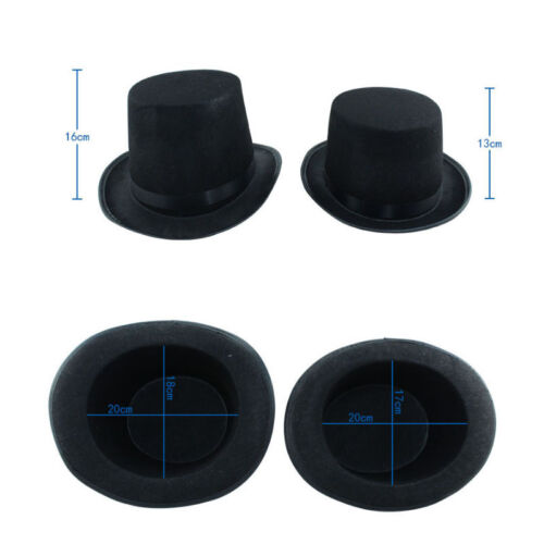 Adult Kids Tall Top Hat Halloween Magician Steampunk Mad Ringmaster Costume