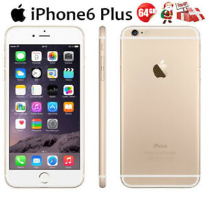 ORO 64GB Apple iPhone 6 Plus iOS 4G SMARTPHONE móvil ORIGINALE A1522 GRADO AAA+