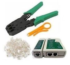 Crimp Crimper10 RJ45 CAT5 CAT5e Connector Plug Network+Tool Kit DIY-Cable Tester