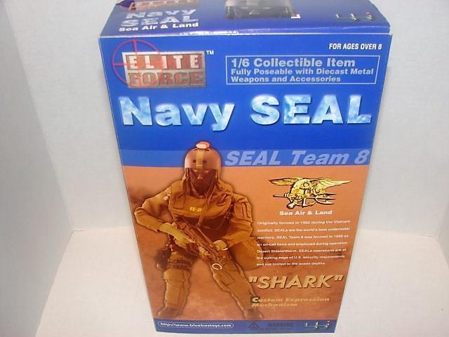 Elite ForceNavy Seal 1 6 Scale 12  Action FigureSharkSeal Team 8
