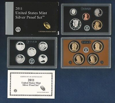 Mint Silver Proof Set OGP W//COA 2011-S 14 Coin U.S