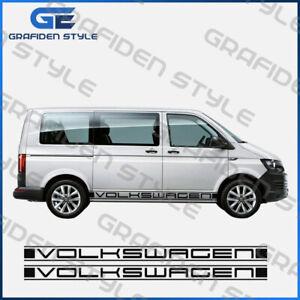 VW-T4-T5-T6-BUS-Seitenstreifen-Satz-VOLKSWAGEN-Aaufkleber-L-220cm