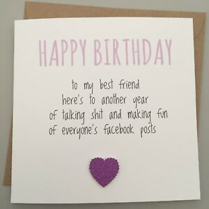 Image Is Loading FUNNY BEST FRIEND BIRTHDAY CARD BESTIE HUMOUR FUN