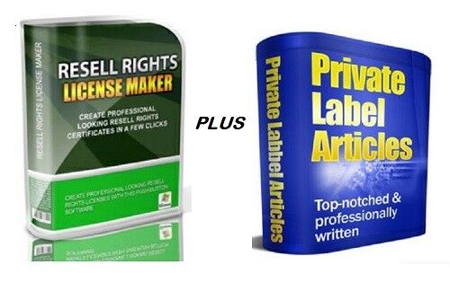 Resell Rights License Maker SW - * PLUS * -  Over 10744 PLR Articles w / RR !