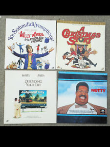 WILLY-WONKA-CHRISTMAS-STORY-NUTTY-PROFESSOR-LASERDISC-MOVIES-COMEDY-HUMOR-FUNNY