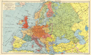 Map Of Germany 1942.Second World War Nazi Germany Axis Occupied Europe Divided Poland