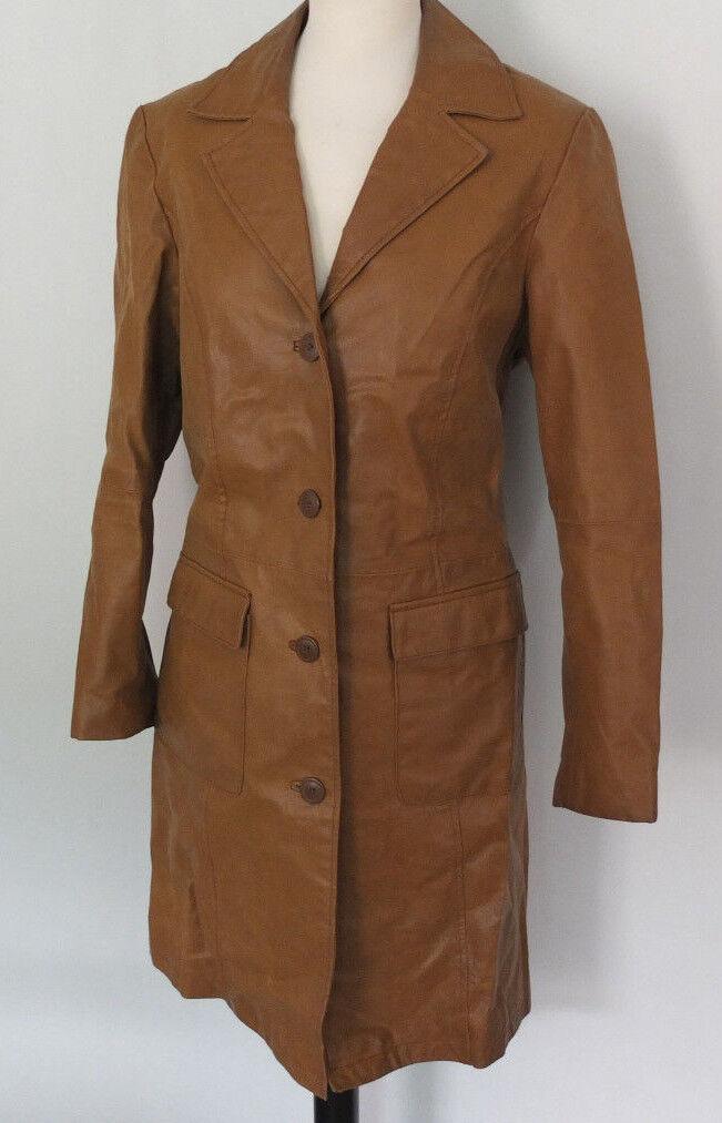 Damen Leder Trenchcoat Mantel Gr. 40 42 TOP