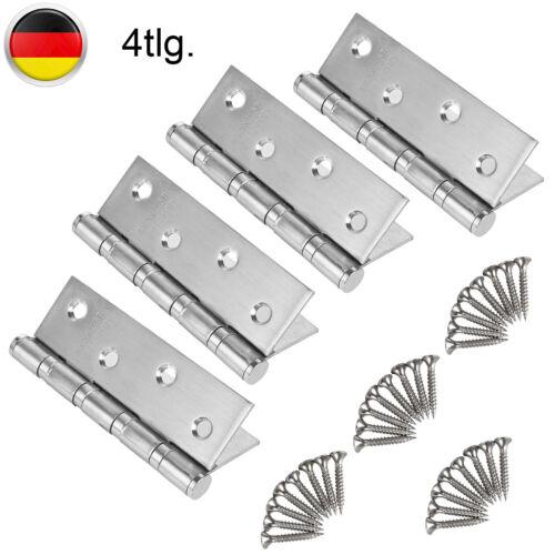 4x Edelstahl Scharniere 100Mm Türband Türscharnier Edelstahl-Scharniere Beschlag