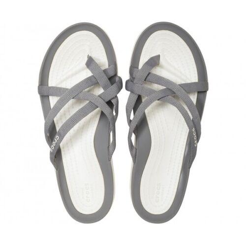 Crocs 205479 SWIFTWATER WEBBING FLIP Ladies Summer Cosy Flexible Straps Sandals