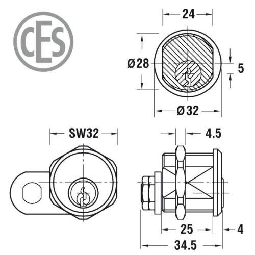 Sicherungskarte CES DU Schließsystem gleichschließend inkl