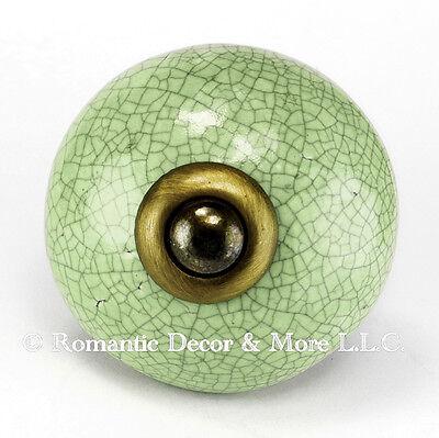 Ceramic Cabinet Door Knobs or Kitchen Pull Handle C16-SET//4 Round Drawer Pulls