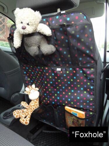 Multi-pocket Car Back Seat Organizer Storage Bag Protector Boys /& Girls