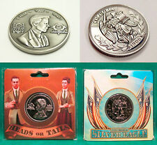 """BioShock Infinite Lutece Twins & Silver Eagle Collectible Coins 1.5"""" *Official*"""