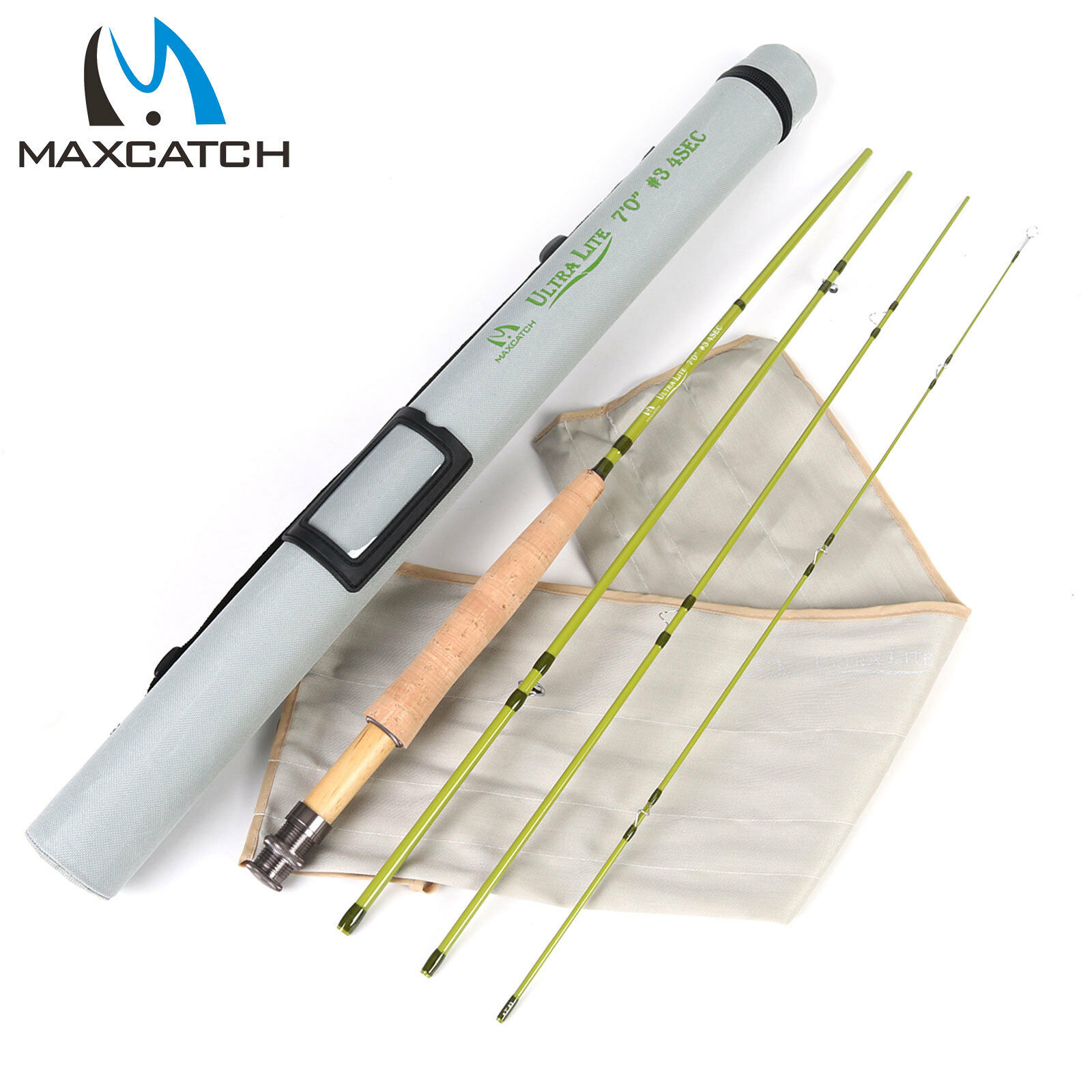 Maxcatch 123WT Fly Fishing Rod 6'6'67'7'6 For Small Streams PanfishTrout
