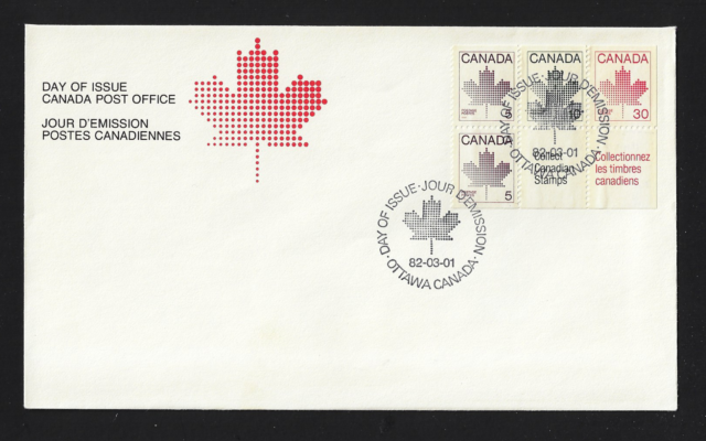 Canada FDIC — 1982, Maple Leaf / Booklet Issue #945a Lot 60424