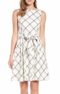 Combo lino con cinturino Windowpane Flare Fit White Anne Plaid in vestibilità Klein 119 0EgqFx0Zwp