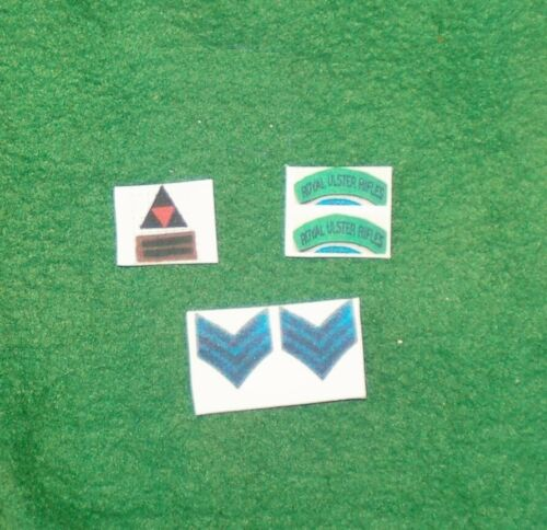 Échelle 1//6 WW2 British 3rd INF Division Royal Ulster Rifles patch lot