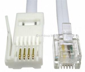 20m Rj11 à Bt Câble Modem Téléphone Plomb Téléphone Prise Bt Socket 4 Pin Droite-afficher Le Titre D'origine Ugcwbauy-07172138-425345322