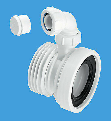 McAlpine WC-CON1V Straight Pan Connector with Boss PART NO. WC-CON1V