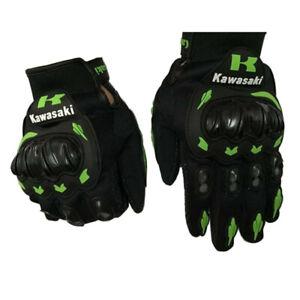 Kawasaki-Motorcycle-Motorrad-Voller-Finger-Motorcycle-Gloves-Handschuhe-Luvas