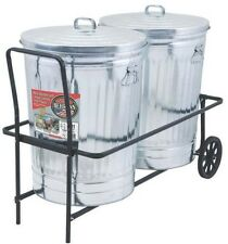 NEW BEHREN'S TCC COATED DUAL 250LB CAPACITY DUAL TRASH GARBAGE CAN CART CADDY