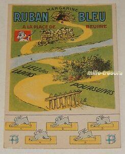 JEU-publicitaire-RUBAN-BLEU-Margarine-JEU-des-LAPINS-POURSUIVIS