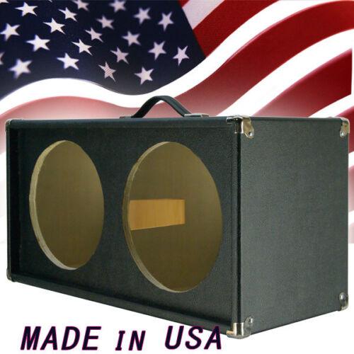 2x12 Guitar Speaker empty Cabinet Bronco black Tolex Strait front shape G2X12ST