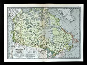 Map Of Canada Vancouver Toronto.1902 Century Map Dominion Canada Newfoundland British Vancouver