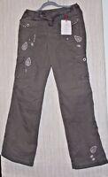 Cambio 100%cotton Khaki Green Straight Leg Women Embroidered Pants Size:6