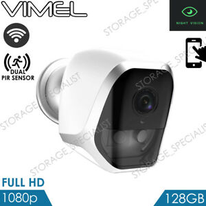 Details about Wireless Home Security Camera 128GB Alarm Long Battery  Operated PIR WIFI IP