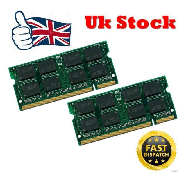4GB 2x2GB RAM Memory For Dell Latitude D620 D630 DDR2