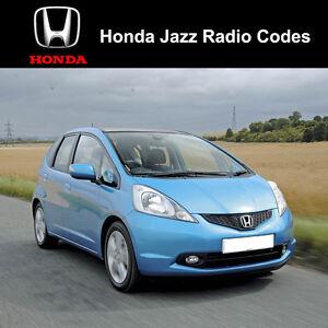 Honda Jazz Radio Code Stereo Codes Fast Unlock Service Uk Ebay