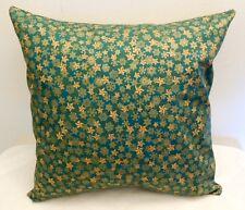 "18"" Throw Toss Sofa Pillow Cover  Handmade USA Forest Green Stars No Form"