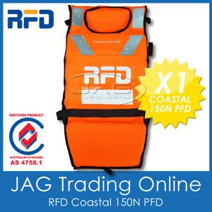 RFD COASTAL 150N LIFE JACKET - Level 150 Adult PFD1 Orange Vest & Safety Whistle