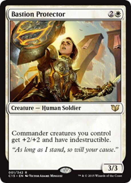 English C15 Commander 2015 MTG Magic the Gathering x1 Bastion Protector 1x NM