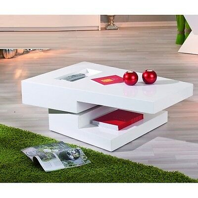 Independent Coffee Table Rotating In White Gloss
