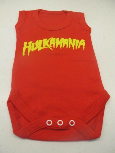 Hulkamania Bebé Chaleco Hulk Hogan Wwe Wrestling rojo bebé crezca 0-3 meses Nuevos